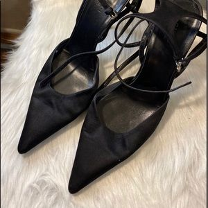 Gucci Satin Pointy Toe Pumps